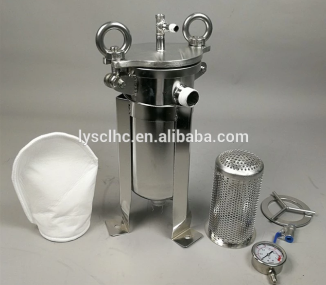 Lvyuan titanium stainless water filter housing with fin end cap for oil fuel-2