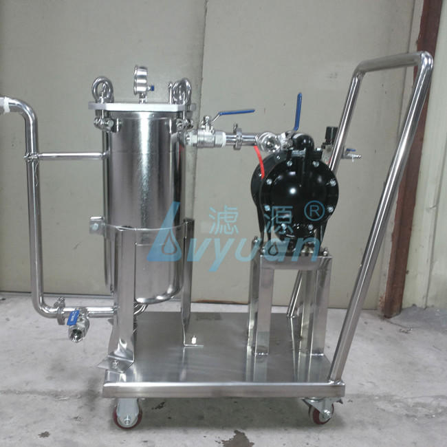 Stainless steel water filtration system with 1 2 3 4 5 Stage