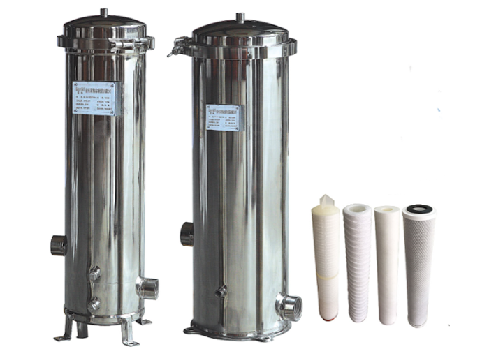 SS Liquid Filtration Stainless Steel Single round cartridge Multi filter vessel