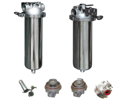 SGS cylinder 100psi Polished 10'' 20'' Sediment Filter Housing