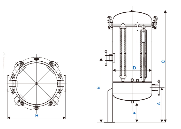 efficient stainless steel cartridge filter housing manufacturer for food and beverage-2