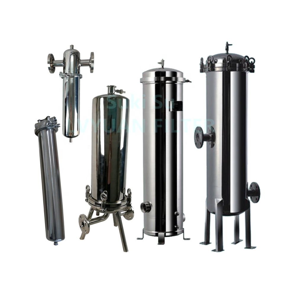 professional ss bag filter housing with core for industry-2
