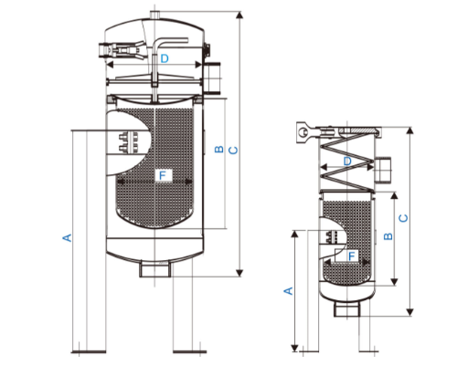 efficient stainless steel cartridge filter housing with fin end cap for sea water desalination-1