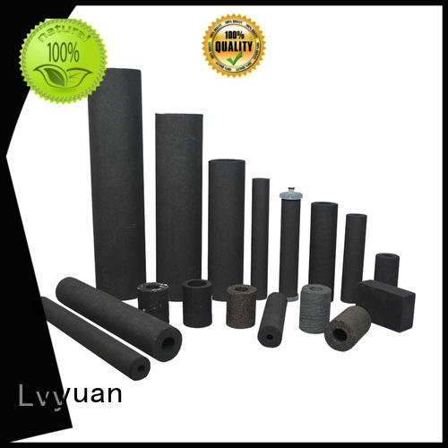 Lvyuan activated carbon sintered filter suppliers rod for sea water desalination