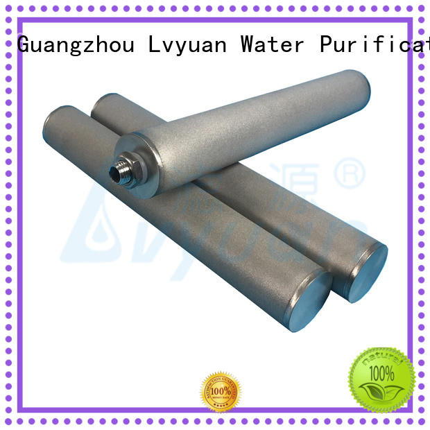 sintered stainless steel filter rod for sea water desalination Lvyuan