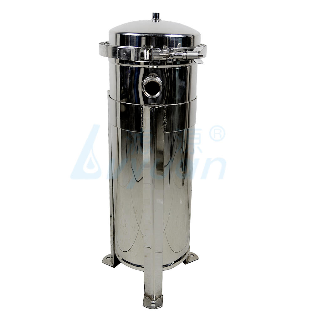 ss304 stainless steel water bag filter housing for beverage filtration