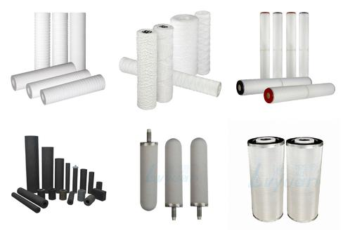 what are commonly used cartridge filters in water filter housing ?