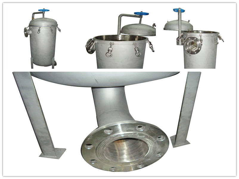 Stainless steel bag filter housing structure and working principle