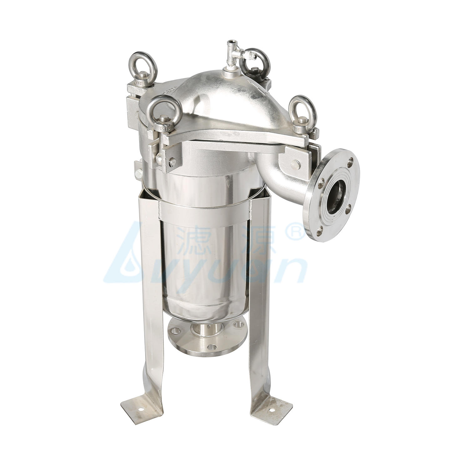 Top-into type hige pressure ss bag filter housing for beverage filtration