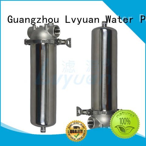 Lvyuan ss filter housing manufacturers with fin end cap for industry