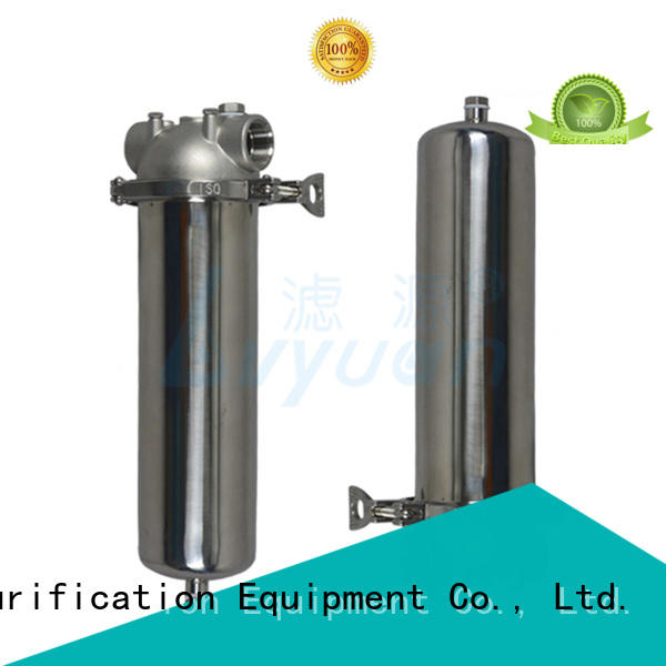 Lvyuan stainless steel filter housing manufacturers with fin end cap for sea water treatment