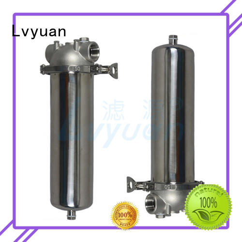 Lvyuan stainless steel cartridge filter housing rod for sea water treatment