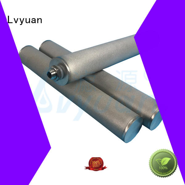 titanium ss sintered filter cartridge supplier for food and beverage Lvyuan