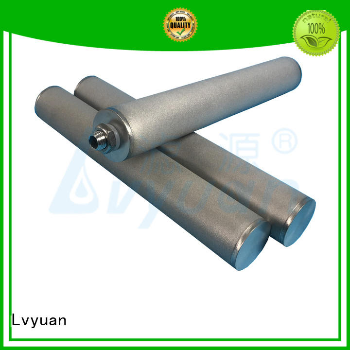 Lvyuan activated carbon sintered filter suppliers manufacturer for industry