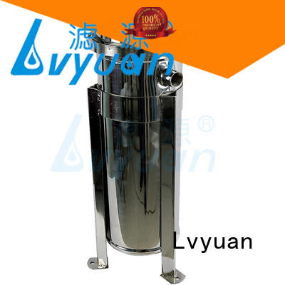 Lvyuan stainless steel filter housing with fin end cap for sea water treatment