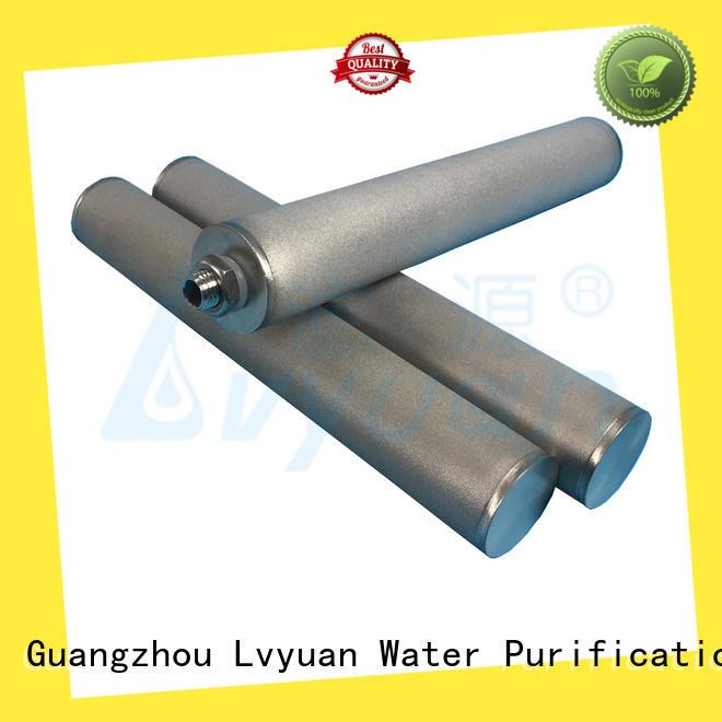 Lvyuan sintered filter cartridge manufacturer for food and beverage