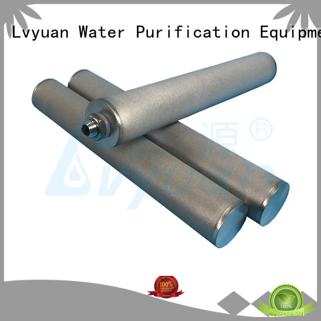 Lvyuan high quality sintered stainless steel filter elements manufacturer for food and beverage