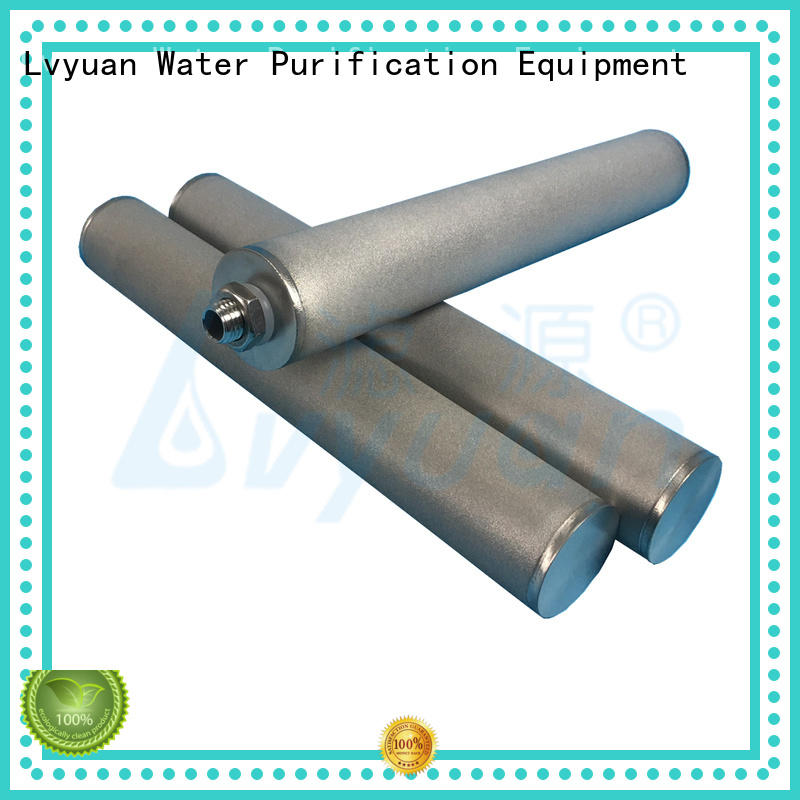 10 inch 1 micron stainless steel SS316 metal porous sintered filter cartridge for liquid filtration