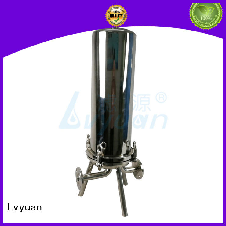 Stainless steel 20 inch water filter housing with 226+fin end cap filter cartridge
