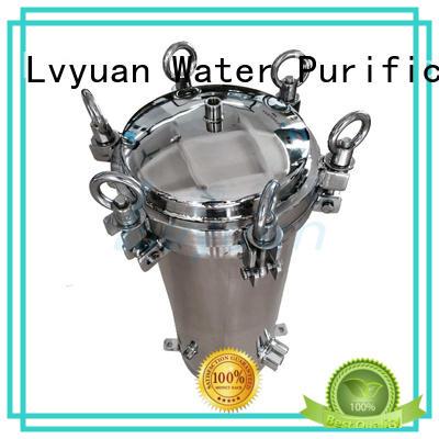 Lvyuan professional ss cartridge filter housing manufacturer for sea water treatment