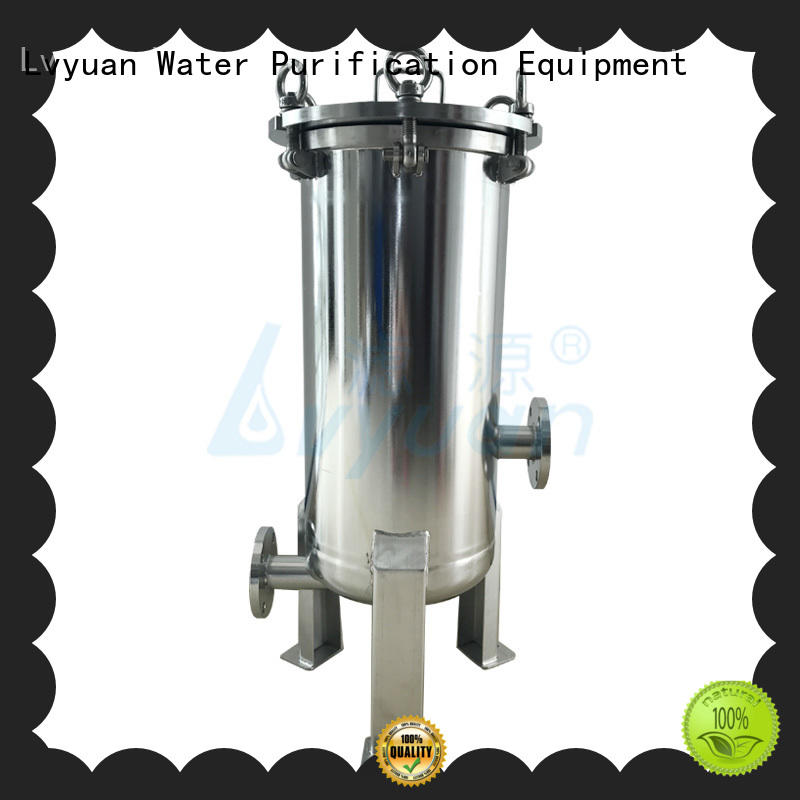 Lvyuan stainless steel bag filter housing housing for oil fuel