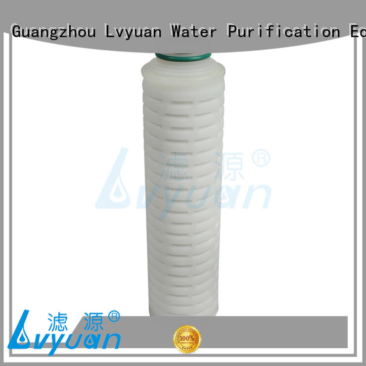 cartridge pleated polypropylene filter cartridge pleated for Lvyuan