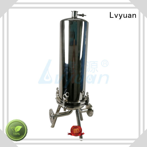 efficient stainless steel filter housing with core for oil fuel