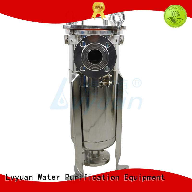Lvyuan titanium ss cartridge filter housing with fin end cap for sea water treatment