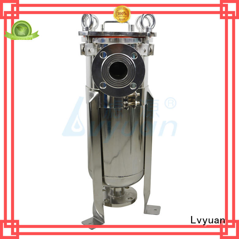 stainless steel cartridge filter housing manufacturer for sea water desalination Lvyuan