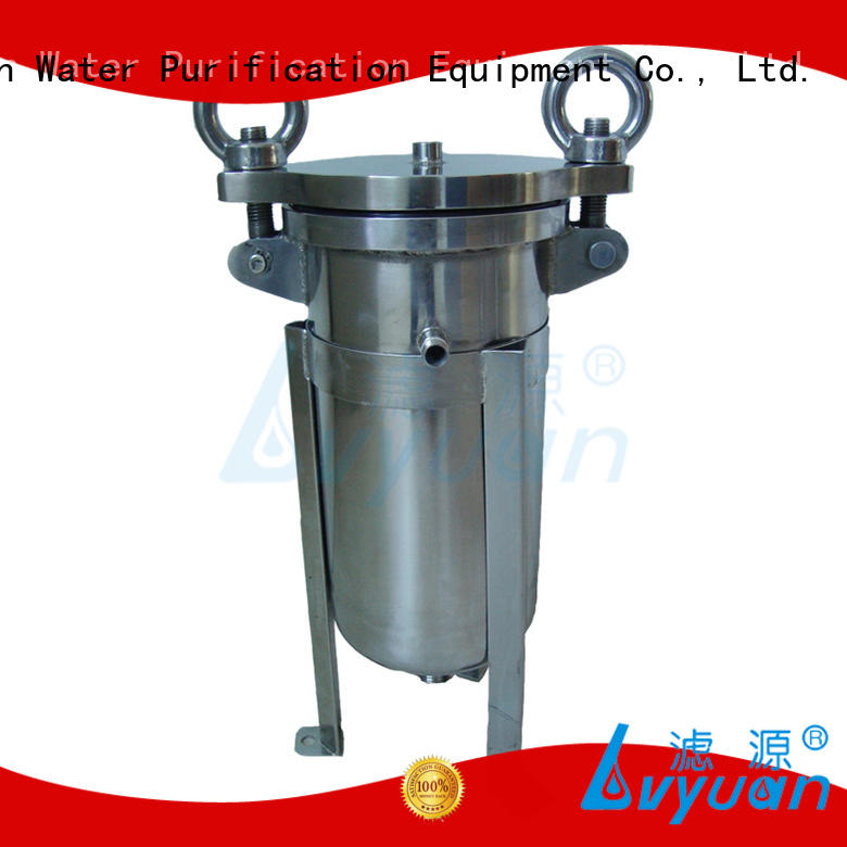 efficient 10 inch filter housing with fin end cap for oil fuel Lvyuan
