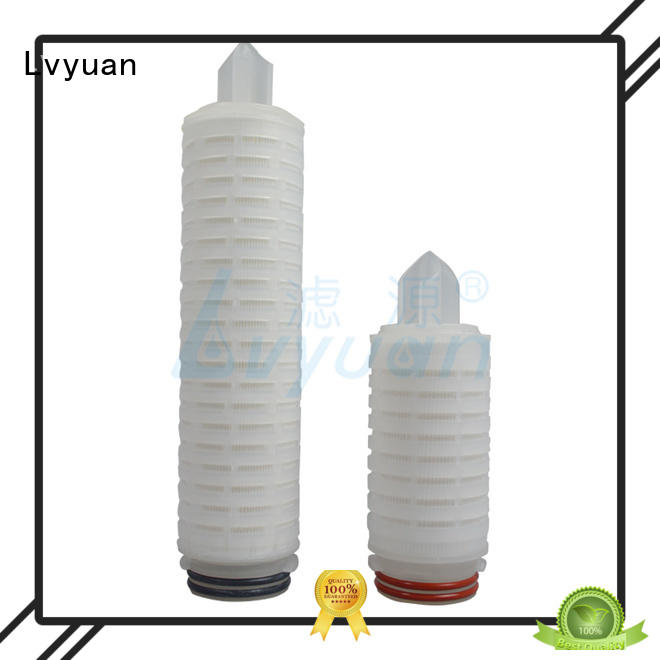 Lvyuan membrane pleated filter supplier for organic solvents
