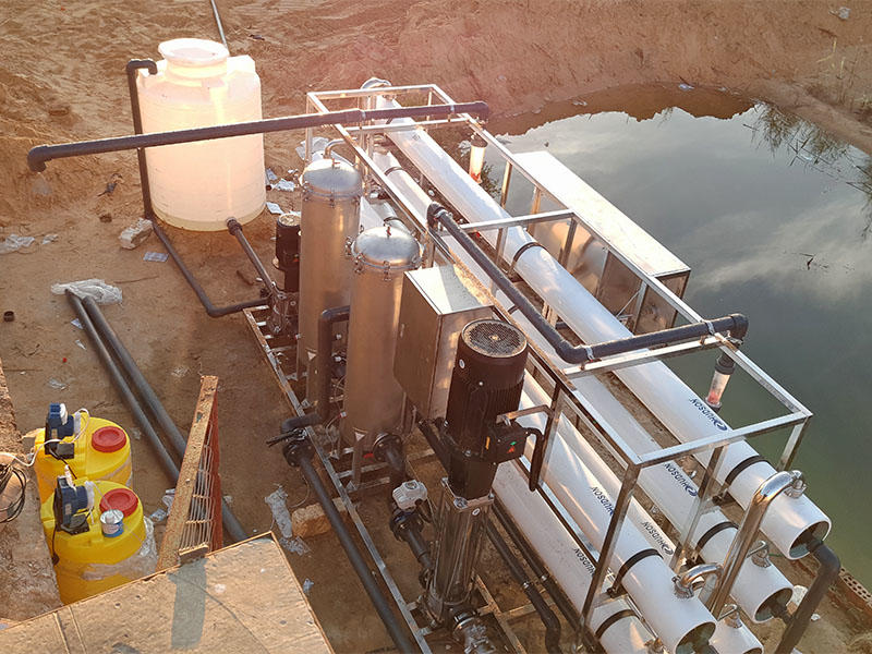 Egypt client adopt our stainless steel cartridge filter housing on water treatment plant