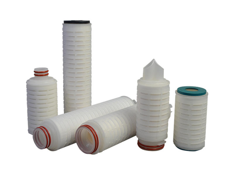 pvdf pleated filter cartridge with stainless steel for sea water desalination