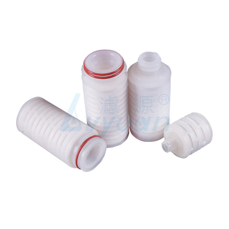 0.2 μm 5 inch PES membrane pleated cartridge filters manufacturer