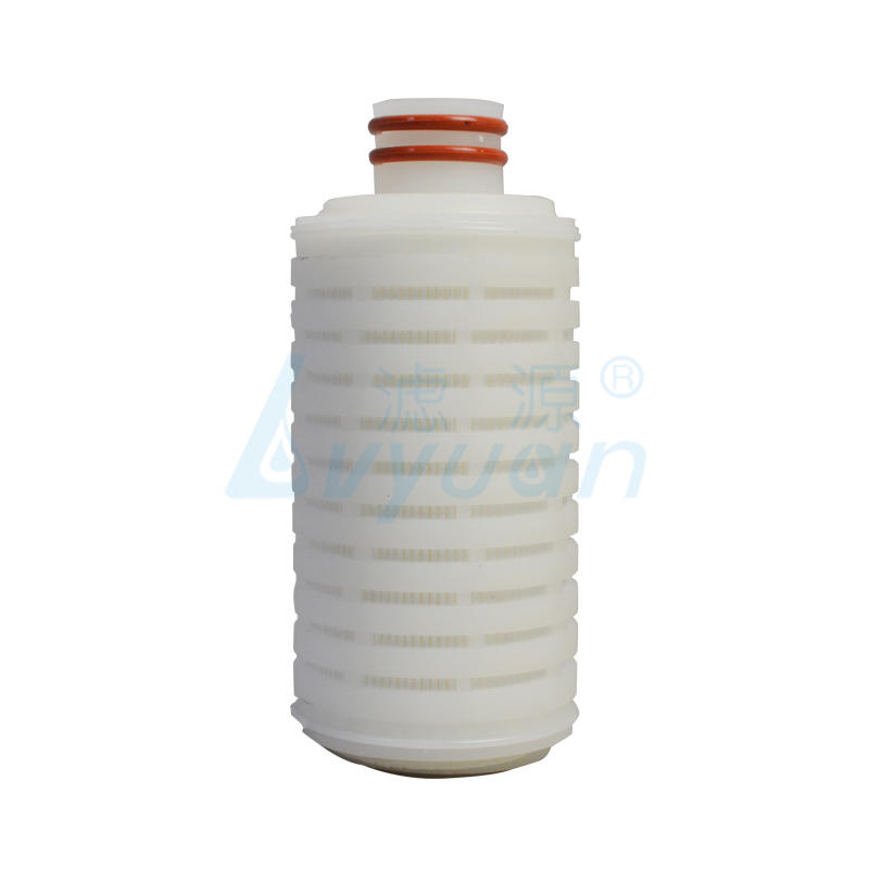 pes pleated filter cartridge with stainless steel for food and beverage