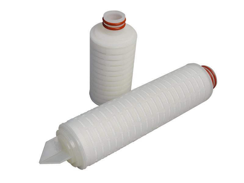 Lvyuan ptfe pleated filter cartridge with stainless steel for liquids sterile filtration