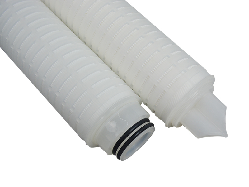 Lvyuan ptfe pleated filter cartridge with stainless steel for liquids sterile filtration-5