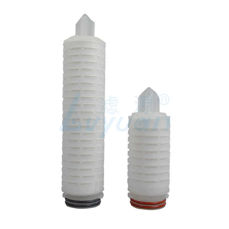 Lvyuan nylon pleated water filter cartridge with stainless steel for organic solvents