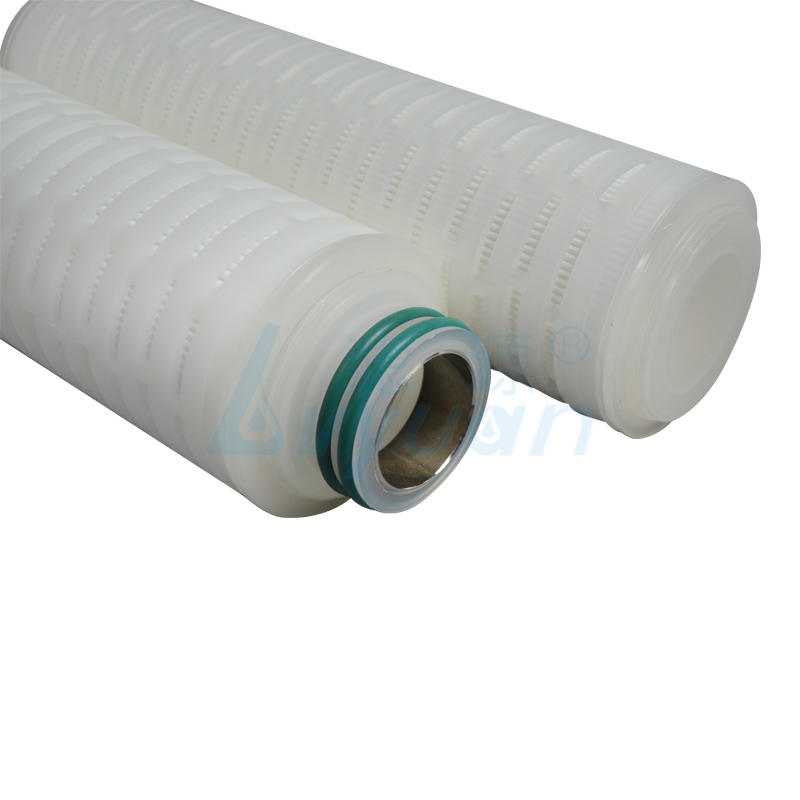 PTFE membrane pleated water filter cartridge with internal stainless steel reinforcing ring