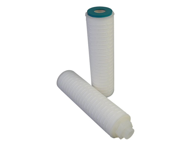 PTFE membrane pleated water filter cartridge with internal stainless steel reinforcing ring-4