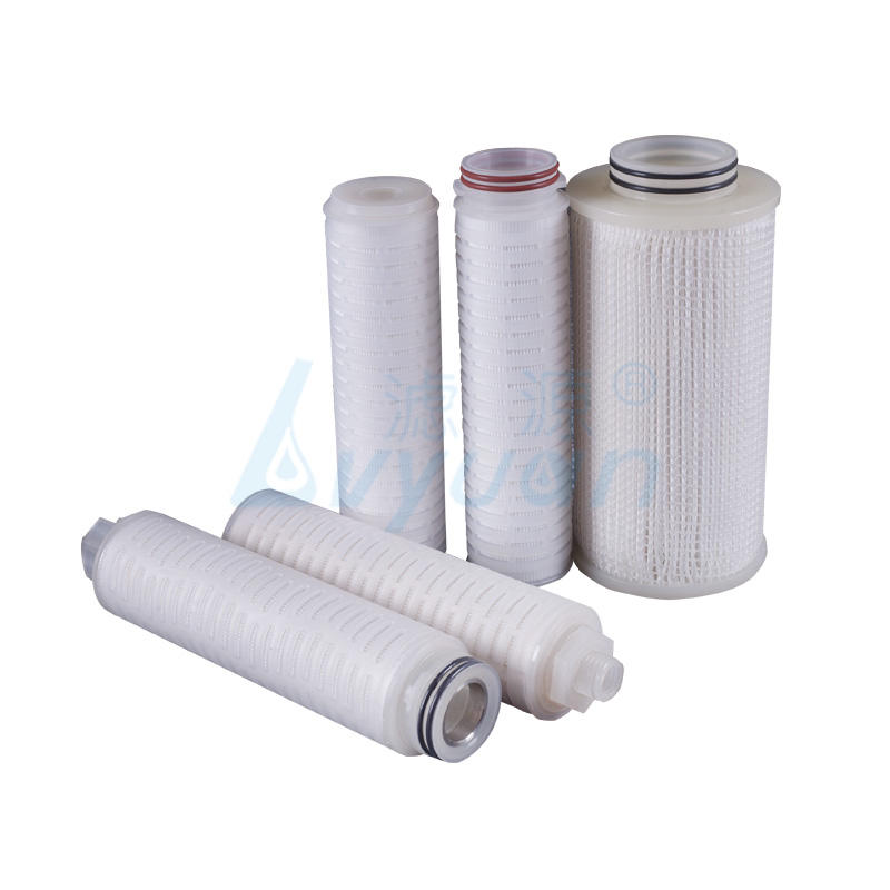 0.45 micron PVDF fliter membrane pleated filter cartridge 10 inch
