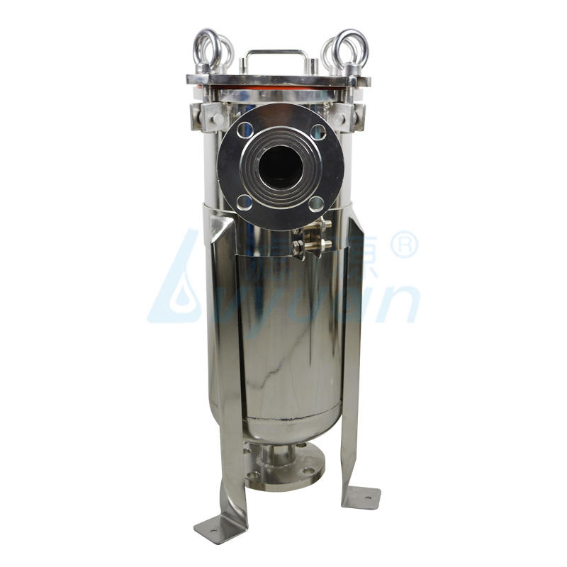 Stainless steel single bag filter housing liquid bag filter for industrial water treatment