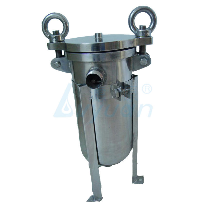 Industrial liquid filtration stainless steel bag filter housing for oil fuel filter