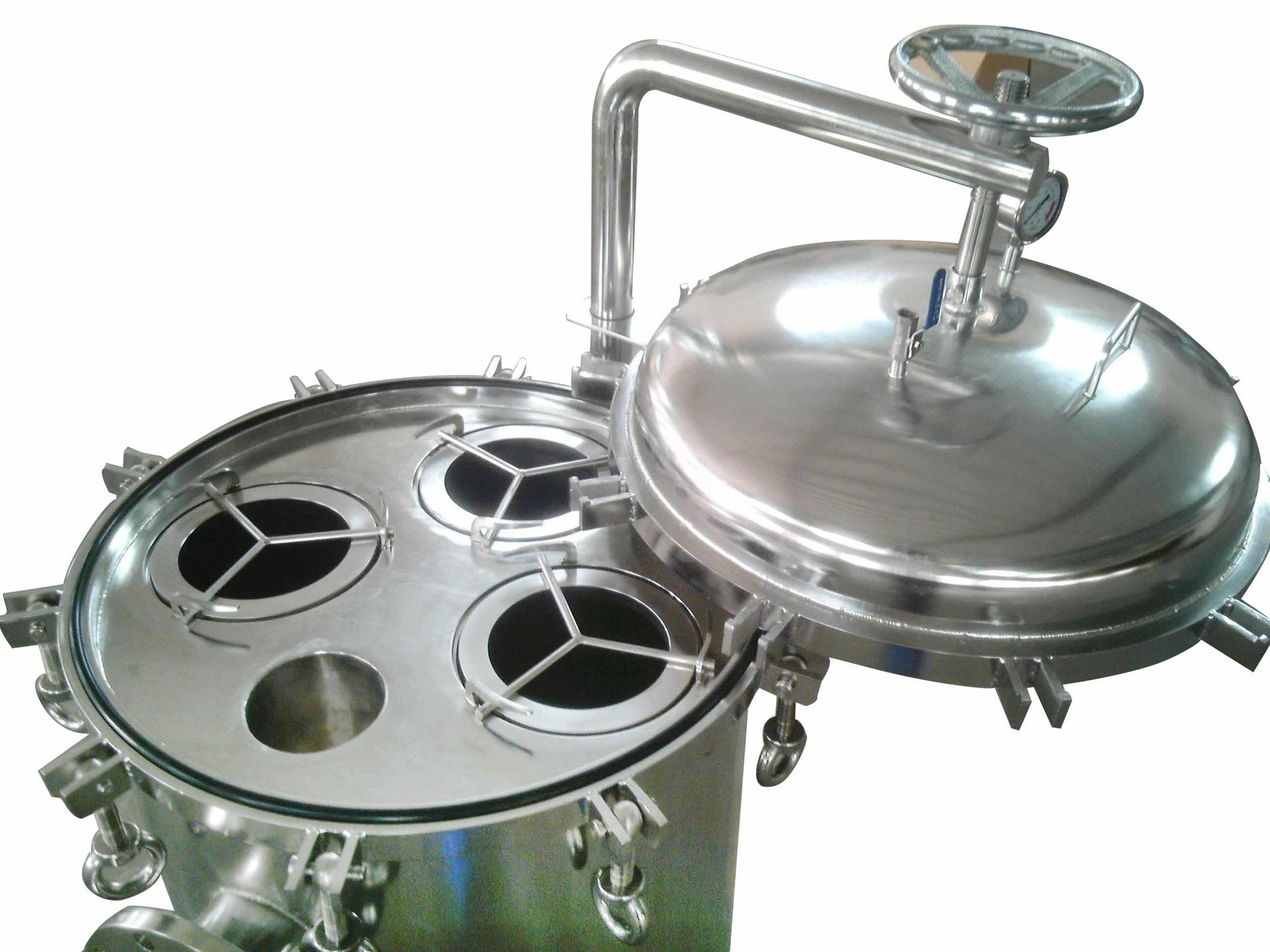 titanium ss filter housing manufacturers with fin end cap for sea water treatment