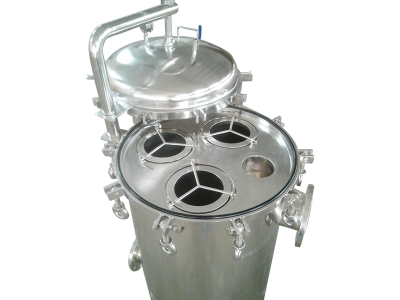 Lvyuan stainless steel bag filter housing with fin end cap for sea water treatment-2