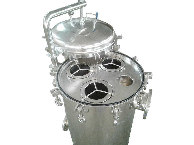high end stainless filter housing with fin end cap for food and beverage-2