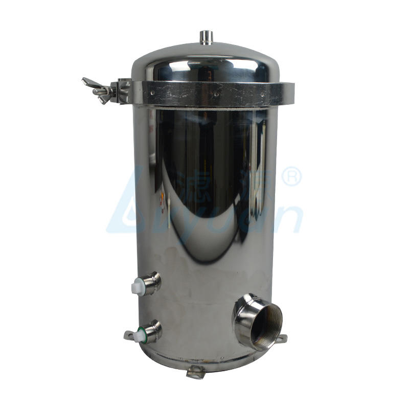 10 inch ss304 stainless steel cartridge filter housing with 5 core filter element