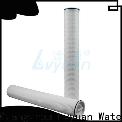 Lvyuan pall high flow pleated filter cartridge supplier for sea water desalination