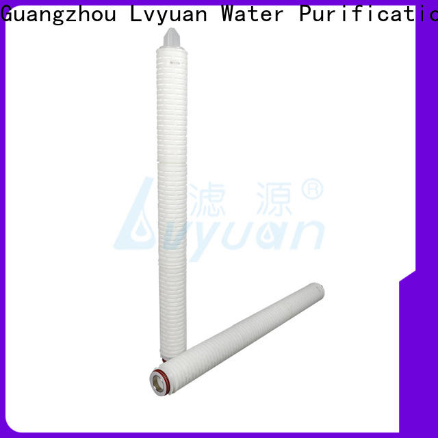 Lvyuan pleated filter element with stainless steel for diagnostics
