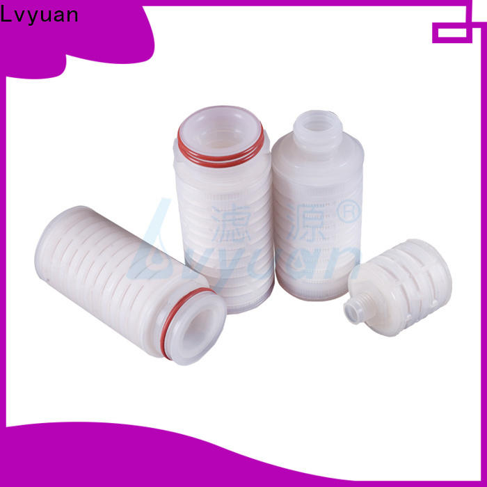 Lvyuan water pleated water filters with stainless steel for industry